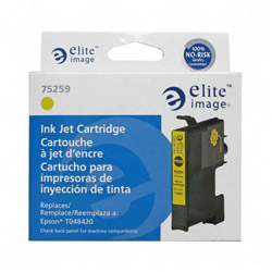 Elite Image 75259 Yellow Ink Cartridge for Epson Stylus Photo R200/R300, 430 Pages