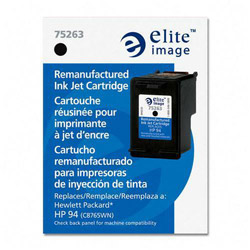 Elite Image 75263 Black Inkjet Cartridge for HEWC8765WN, DJ5740, 450 Pages