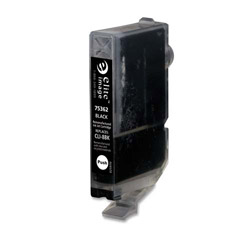 Elite Image 75362 Black CLI-8Black Replacement Ink Cartridge, 280 Pages
