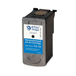 Elite Image 75367 Black PG-50 Replacement Ink Cartridge, 300 Pages