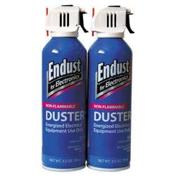 Endust Compressed Gas Duster, Non Flammable Formula, 3.5 oz. Can, 2/Pack