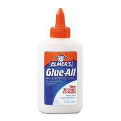 Elmer's Glue-All White Glue, Repositionable, 4 oz