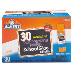 Elmer's Glue Sticks, .24 oz., Purple Application