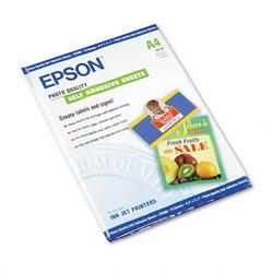 Epson Photo Quality Self Adhesive Paper, A4 Size (8 3/8 x 11 3/4), 10 Sheets/Pack