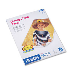 Epson Ink Jet Photo Paper, Letter Size (8 1/2 x 11), 20 Sheets/Pack