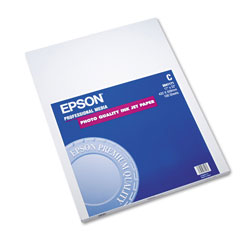 Epson Photo Quality Ink Jet Paper, C Size, 17 x 22, 100 Sheets/Pack