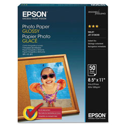 Epson Ink Jet Photo Paper, Letter Size (8 1/2 x 11), 100 Sheets/Pack