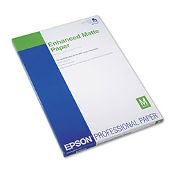 Epson Enhanced Matte Paper, Archival, 13 x 19, 50 Sheets/Pack