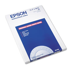 Epson Premium Luster Photo Ink Jet Paper, 10 mil, 11 3/4 x 16 1/2, 50 Sheets/Pack