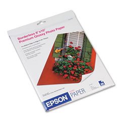 Epson Borderless Glossy Photo Paper for Stylus Photo 780/1280, 8 x 10, 20 Sheets/Pack