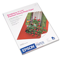Epson Borderless Glossy Photo Paper for Stylus Photo 1280, 11 x 14, 20 Sheets/Pack