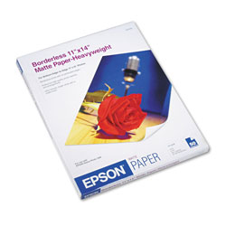Epson Borderless Matte Photo Paper for Stylus Photo 1280, 11 x 14, 50 Sheets/Pack