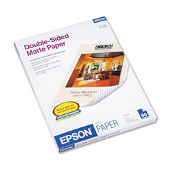 Epson Ink Jet Double Sided Matte Paper, Letter Size, 8 1/2 x 11, 50 Sheets/Pack
