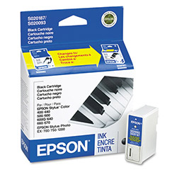 Epson Ink Jet Cartridge for Stylus Color 400, 440, 600, 640, & Others, Black