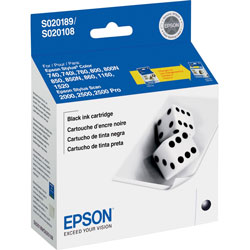 Epson Black Ink Jet Cartridge for Stylus Color 740, 740i, 760, 800, 800N, Others