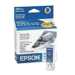 Epson Ink Jet Cartridge for Stylus Photo 780, 785EPX, 825, 870, & Others, Black
