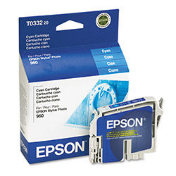 Epson Ink Jet Printer Cartridge for Stylus Photo 960, Cyan