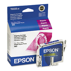 Epson Ink Jet Printer Cartridge for Stylus Photo 960, Magenta