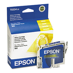 Epson Ink Jet Printer Cartridge for Stylus Photo 960, Yellow