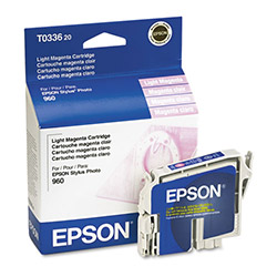 Epson Ink Jet Printer Cartridge for Stylus Photo 960, Light Magenta