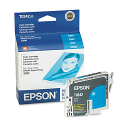 Epson Ink Jet Cartridge for Stylus Photo 2200, Cyan