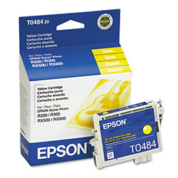 Epson Ink Cartridge for Stylus Photo R200, R300, R300M, R320, RX500, & Others, Yellow