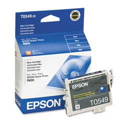 Epson Ink Jet Cartridge for Stylus Photo R800, R1800 Printer, Blue