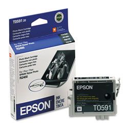 Epson Ink Jet Cartridge for Stylus Photo R2400 Printer, Black Photo Cartridge