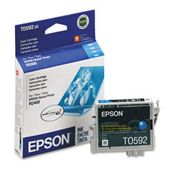 Epson Ink Jet Cartridge for Stylus Photo R2400 Printer, Cyan Cartridge