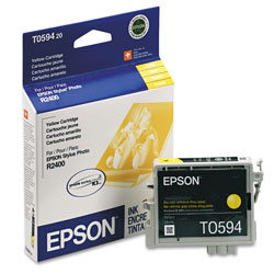 Epson Ink Jet Cartridge for Stylus Photo R2400 Printer, Yellow Cartridge