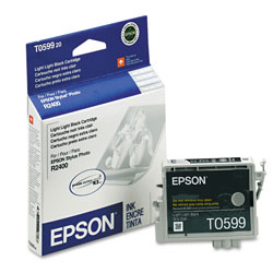 Epson Ink Jet Cartridge for Stylus Photo R2400 Printer, Light Light Black Cartridge
