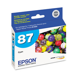 Epson T087220 Inkjet Cartridge, Cyan