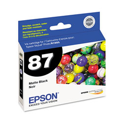 Epson T087820 Ink Cartridge, Matte Black