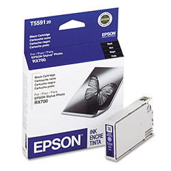 Epson Ink Jet Printer Cartridges, Stylus Photo RX700, Black