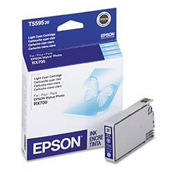 Epson Ink Jet Printer Cartridges, Stylus Photo RX700, Light Cyan