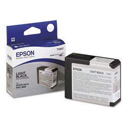 Epson Inkjet Print Cartridge for Stylus Pro 3800, Light Black