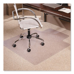 E.S. Robbins Anchormat Chair Mat For Low Pile/Loop Carpets, 45w x 53h, Clear