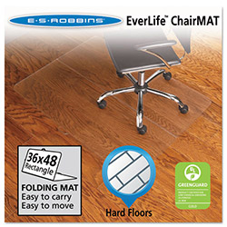 E.S. Robbins Anchormat Chair Mat for Hard Floors, 36w x 48l, Clear