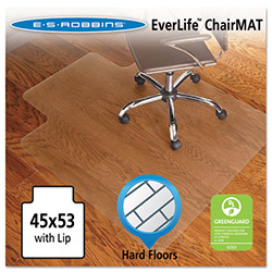E.S. Robbins Anchormat Chair Mat for Hard Floors, 45w x 53l, Clear