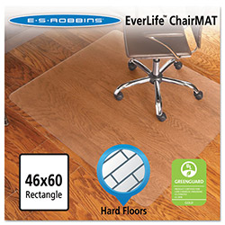 E.S. Robbins Anchormat Chair Mat for Hard Floors, 46w x 60l, Clear