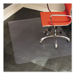 E.S. Robbins Anchormat Chair Mat For Hard Surface Floors, 46w x 60h, Clear