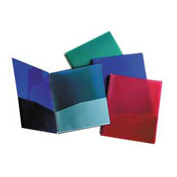 Oxford 8-Pocket Folder, Wire Bind, Letter, 200 Sh Capacity, Assorted