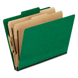 Pendaflex Six-Section Colored Classification Folders, Letter, 2/5 Tab, Green, 10/Box