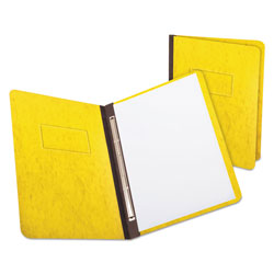 "Oxford PressGuard Report Cover, Prong Clip, Letter, 3"" Capacity, Yellow"