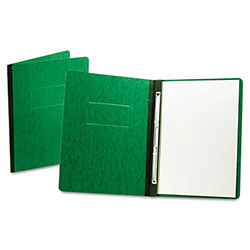 "Oxford PressGuard Report Cover, Prong Clip, Letter, 3"" Capacity, Dark Green"