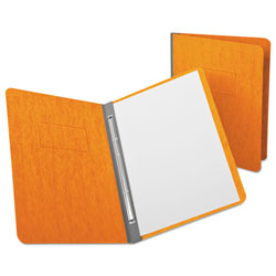 "Oxford PressGuard Report Cover, Prong Clip, Letter, 3"" Capacity, Tangerine"