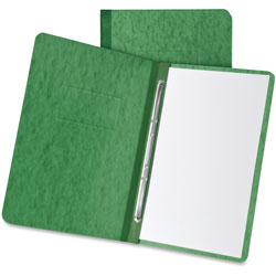 "Oxford Pressboard Report Cover, 2 Prong Fastner, Letter, 3"" Capacity, Dark Green"