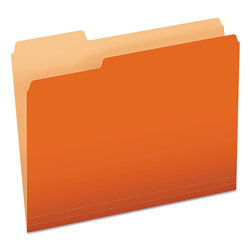 Pendaflex Colored File Folders, 1/3 Cut Top Tab, Letter, Orange/Light Orange, 100/Box