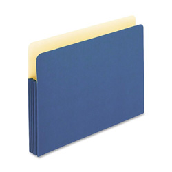"TOPS Expanding File Pocket, 3 1/2"" Expansion, Letter, Blue"