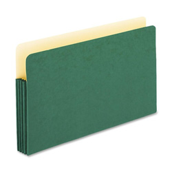 "TOPS Expanding File Pocket, 3 1/2"" Expansion, Legal, Green"